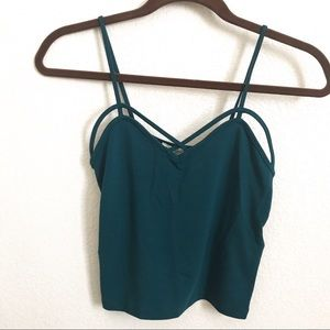 Peacock blue cami / crop top from Forever 21!